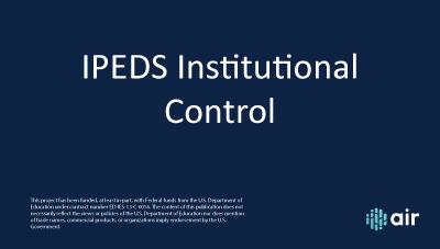 IC Header Institutional Control