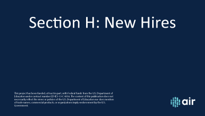 Section H New Hires