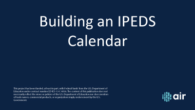 Building an IPEDS Calendar