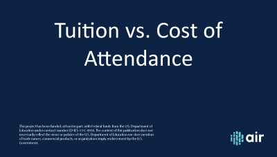 IC  Tuition Vs Cost of Attendance