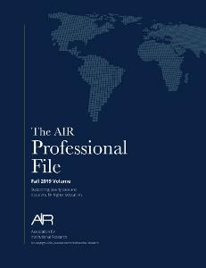 AIR Professional File Fall 2019