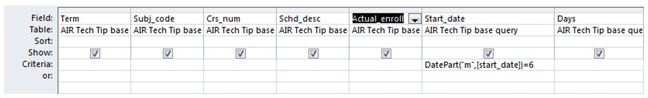 Using the Criteria Field in Microsoft Access | AIR