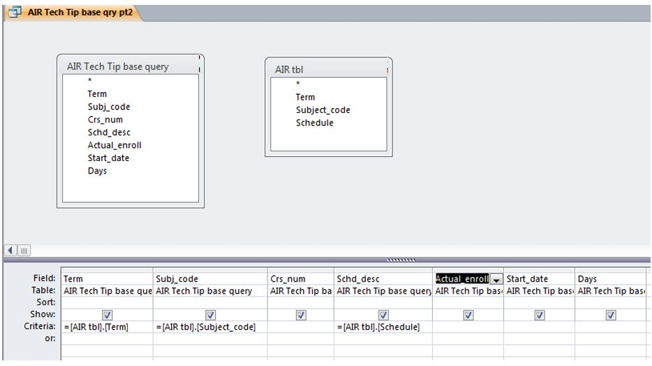 Ms access query criteria if blank
