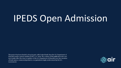 IC Header Open Admission