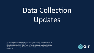 Data Collection Updates
