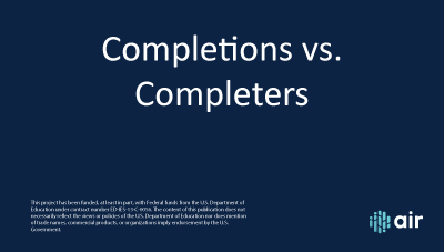 Completions vs. Completers