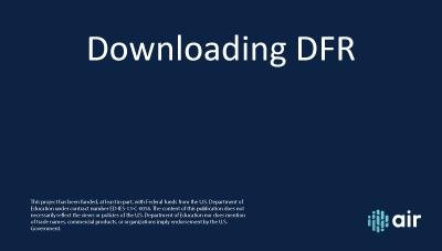 DFR-Downloading-DFR