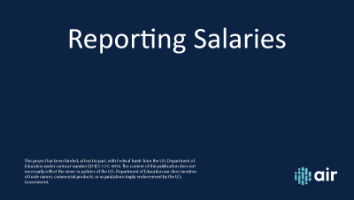 HR Reporting Salaries