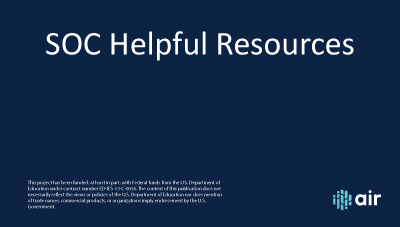 HR SOC Helpful Resources