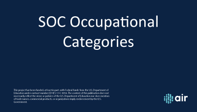 SOC Occupational Categories