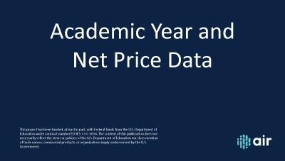 Academic Year and Net Price Data