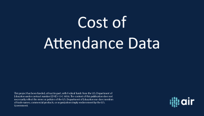 Cost of Attendance Data