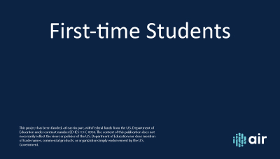 First Time Students