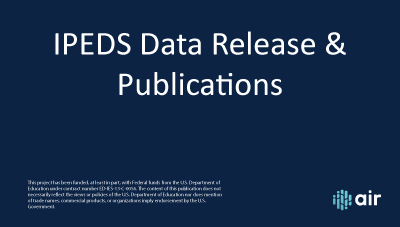 IPEDS-Data-Release-Publications