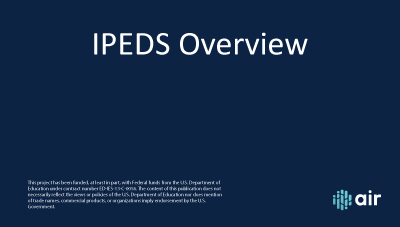 IPEDS Overview