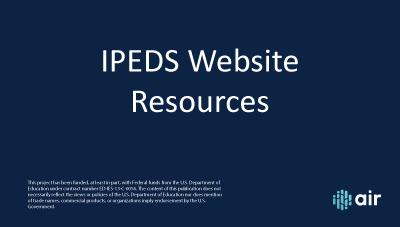 IPED Website Resources