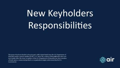 Keyholder Responsibilities