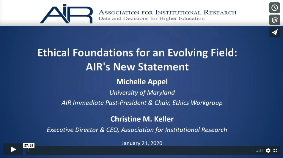 Ethical Foundations for an Evolving Field: AIR's New Statement